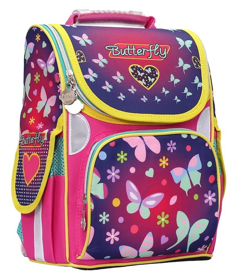 Ранец «Butterfly» 2 отд 34*26*13см 300D PL RAINBOW 8-504