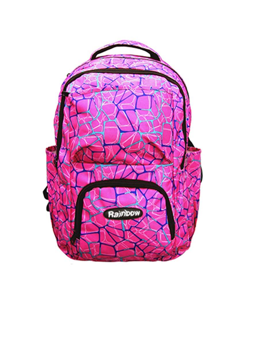 Ранец-рюкзак 2 отд 43*29*20см 300D PL RAINBOW Teens 8-537