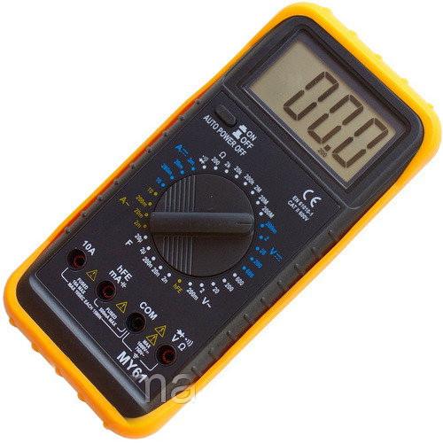 Мультиметр цифровой MY61 с автовыключением, амперметр, вольтметр, прозвонка