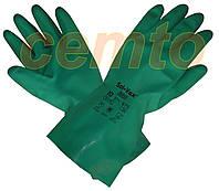 Химически стойкие нитриловые зеленые перчатки