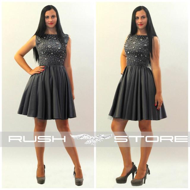 Купить платье из кожзама