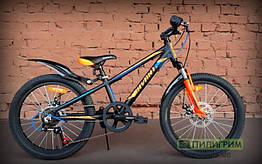 "Велосипед детский 20"" Avanti Turbo Disc 2019 черно-оранжевый"