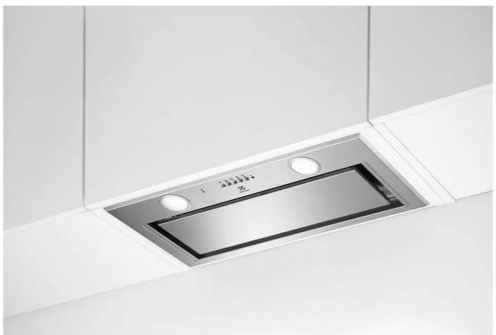 Вытяжка встраиваемая, кухонная Electrolux LFG716X с функцией Hob2Hood