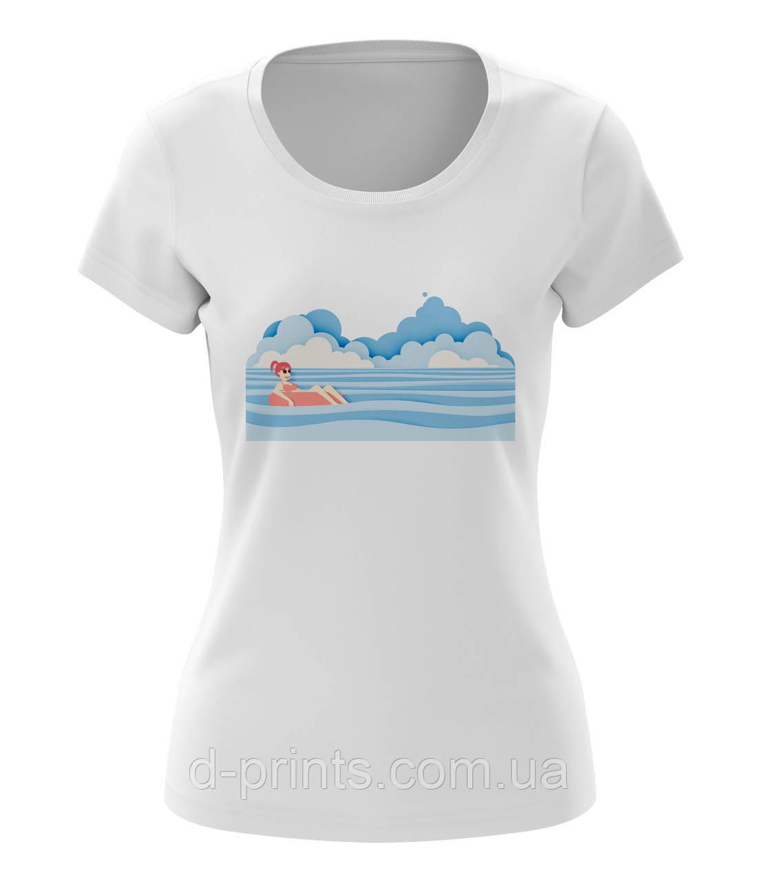 """Футболка жіноча з малюнком """"Море"""""""