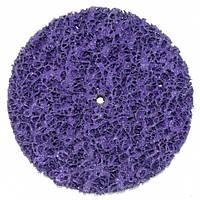 Круг зачистной без основы фиолетовый (коралл) Polystar Abrasive d-125 мм