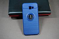 Чехол бампер силиконовый Samsung Galaxy J4+J415 Plus Самсунг цвет синий с подставкой