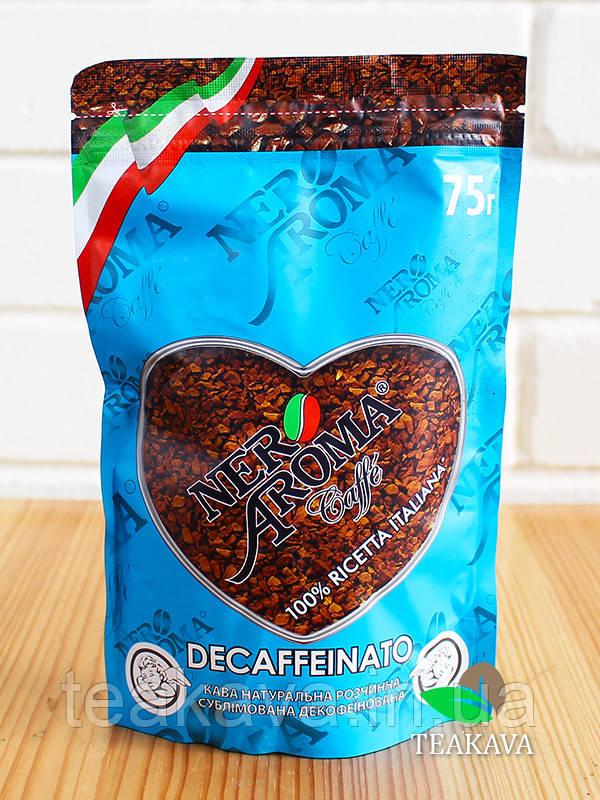 Кофе растворимый Nero Aroma Decaffeinato (без кофеина), 75 г