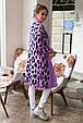Красивый женский кардиган Лео лаванда-синий (44-52), фото 4