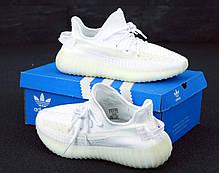 Жіночі кросівки AD Yeezy 350 White, адідас ізі буст. ТОП Репліка ААА класу., фото 2