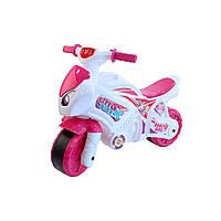 Толокар Мотоцикл Технок, бело-розовый, ТехноК (6368)