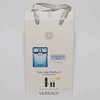Мини парфюмерия Versace Man Eau Fraiche (Версаче Мен Еу Фреш) в подарочной упаковке 3х15 ml  DIZ