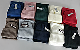 Комплект шапка подвійна і хомут м 5003, різні кольори, фото 4
