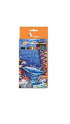 Карандаши цветные 12 цв «Подводный мир» ЦК42-10 УМКА