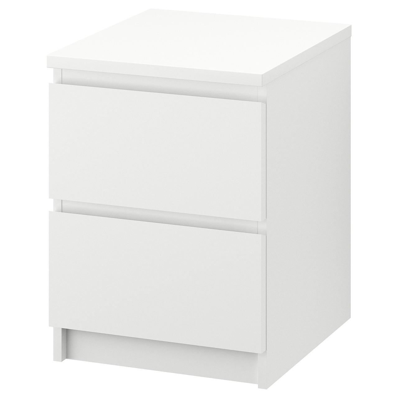 Комод с 2 ящиками IKEA MALM белый 802.145.49