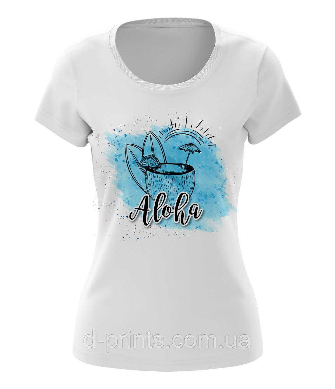 """Футболка жіноча з малюнком """"Aloha """""""