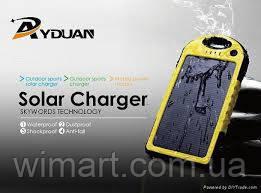 Зарядное устройство Solar Power Bank 12000mAh Waterproof Желтый