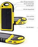 Зарядное устройство Solar Power Bank 12000mAh Waterproof Желтый, фото 2