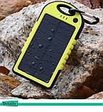 Зарядное устройство Solar Power Bank 12000mAh Waterproof Желтый, фото 3