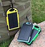 Зарядное устройство Solar Power Bank 12000mAh Waterproof Желтый, фото 5