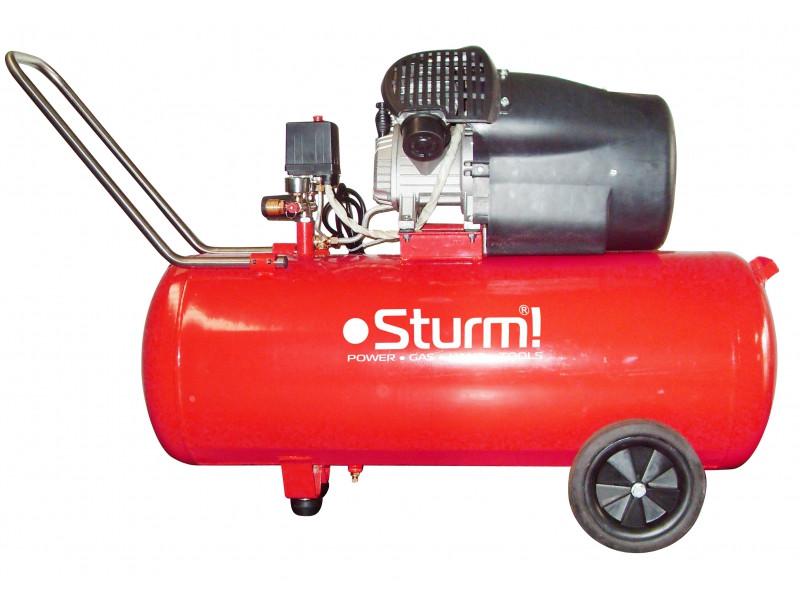 Воздушный компрессор 2400 Вт, 100л Sturm AC93104