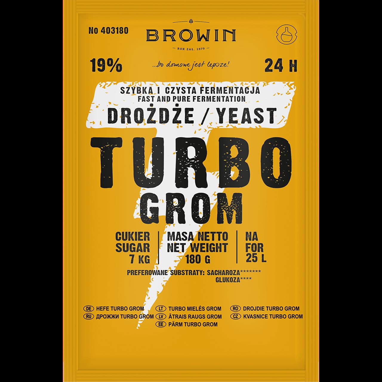 Дрожжи Turbo Yeast Grom 24ч., BIOWIN
