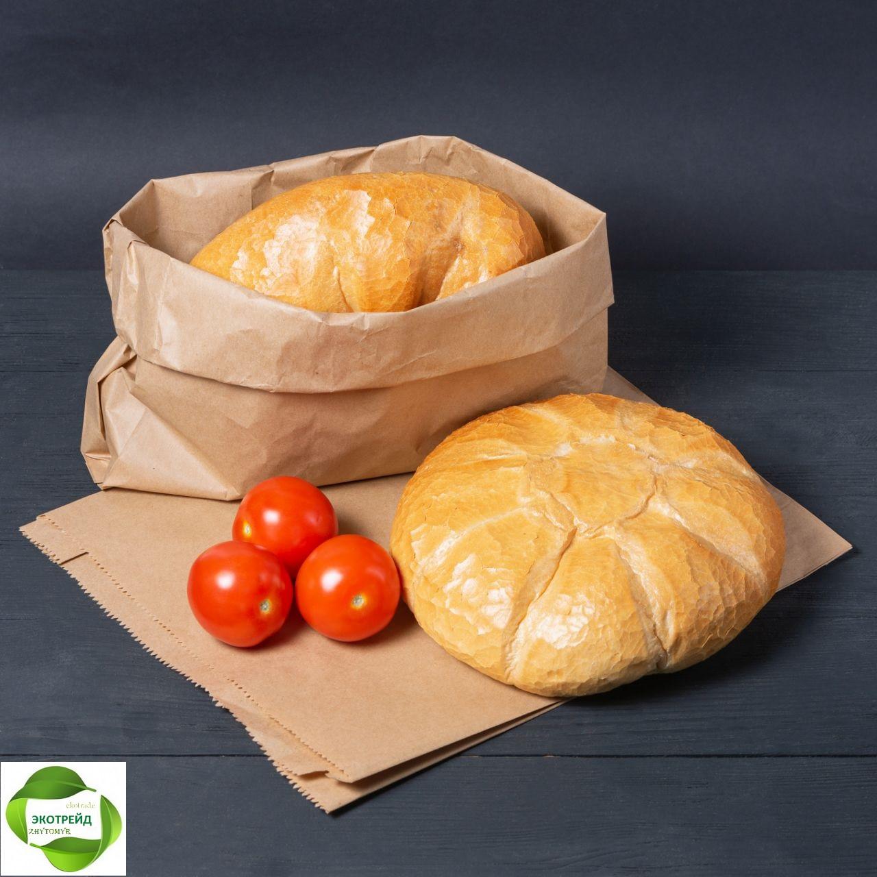 Крафт пакет  большой для хлеба 300мм*110мм*400мм бурый