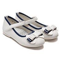 Белые школьные туфли Шалунишка для девочки, размер 31-36