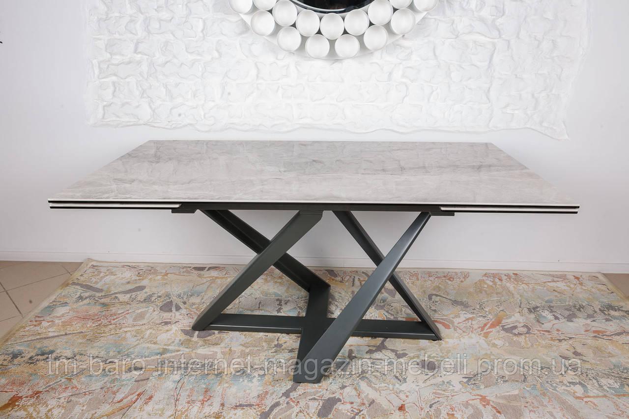 Стол Fleetwood New (Флитвуд Нью) керамика, светло-серый глянец(Бесплатная доставка), Nicolas