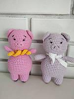 Мягкая игрушка Розовый поросёнок ручной работы