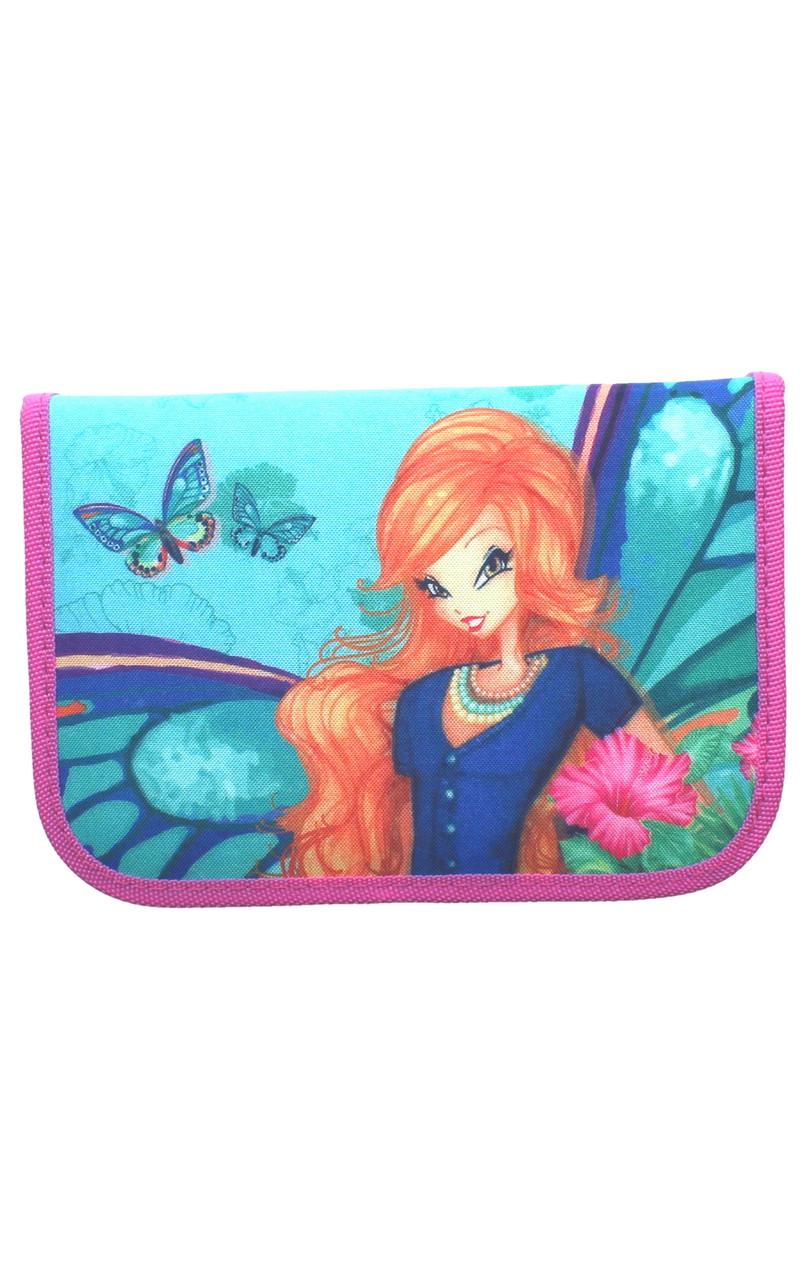 Пенал 1-яр c 1м отворотом с наполнением Fairy Flower CLASS 97234