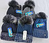 М 5008 Комплект для хлопчика: шапка+манішка , різні кольори, фото 2