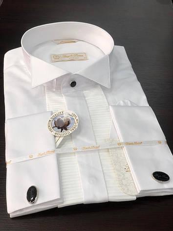 Oднотонная рубашка Angelo Roma, фото 2