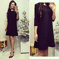 Женское стильное полуприлегающее платье БАТАЛ, фото 1
