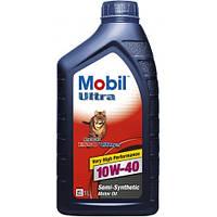 Моторное масло полусинтетика  Mobil (Мобил) Ultra 10W-40 1л