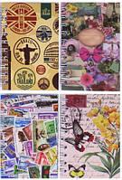 """Блокнот на спирали A6 """"Цветы, города"""" обложка ПВХ, 60 листов 50K-70-1305"""