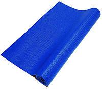Профессиональный коврик для йоги, фитнеса и аэробики 1730×610×4мм, цвет синий