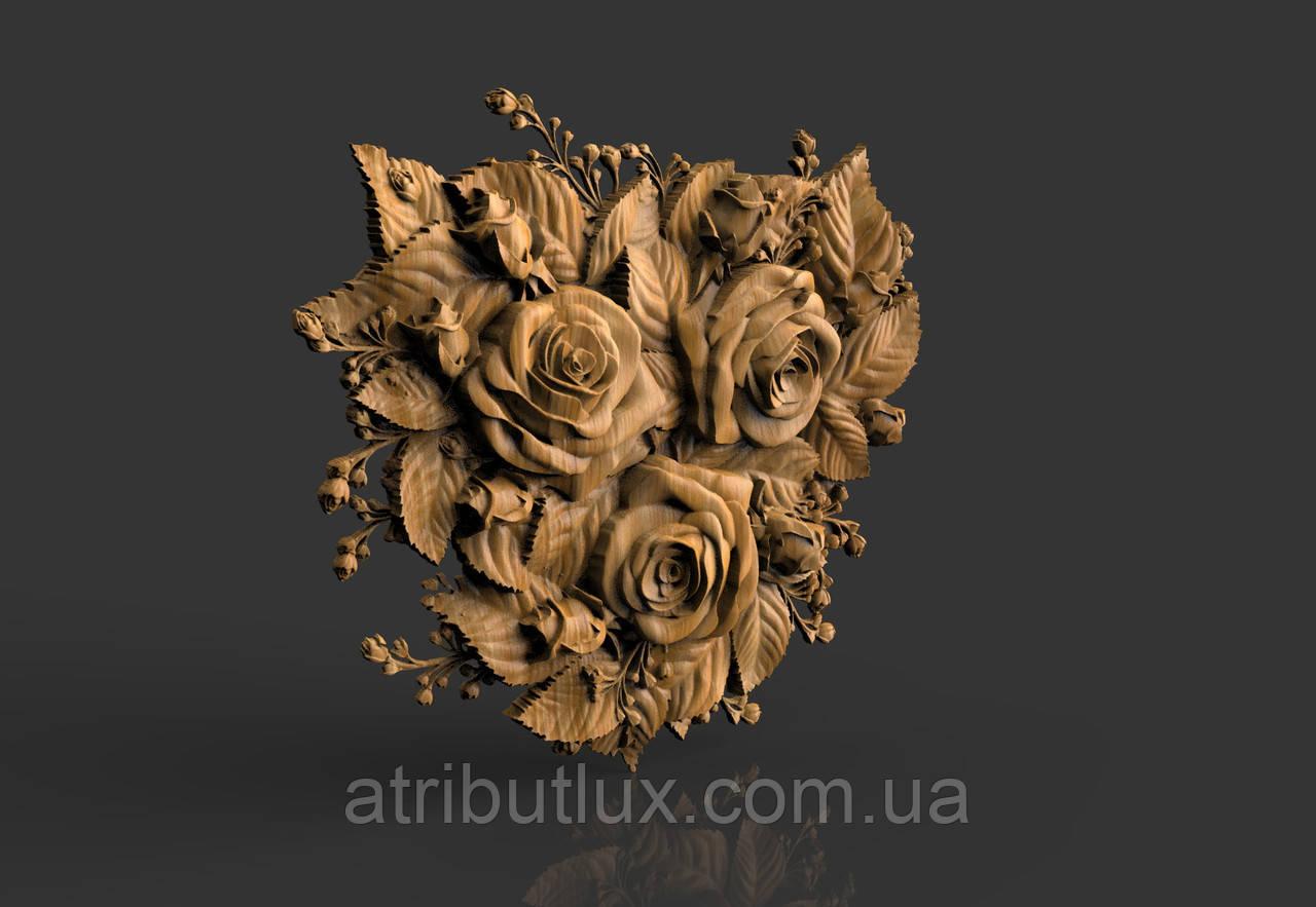 Барельєф Букет троянд