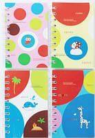 """Блокнот на спирали A6 """"Горох яркий"""" обложка ПВХ, 60 листов 50K-52-1305"""