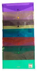 Папка з кнопкою прозрачная А4 PP цвет в ассортименте 4-208 4OFFICE