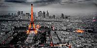 Фотокартина Ночной Париж с высоты, фото 1