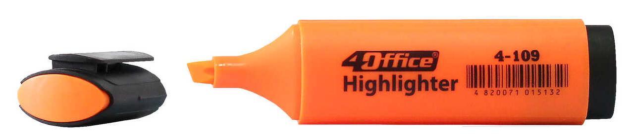 Текстмаркер 1-5мм оранжевый 4-109 4Office