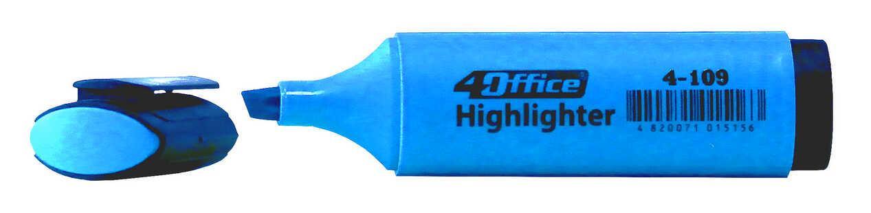 Текстмаркер 1-5мм голубой 4-109 4Office
