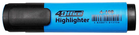 Текстмаркер 1-5мм голубой 4-109 4Office, фото 2