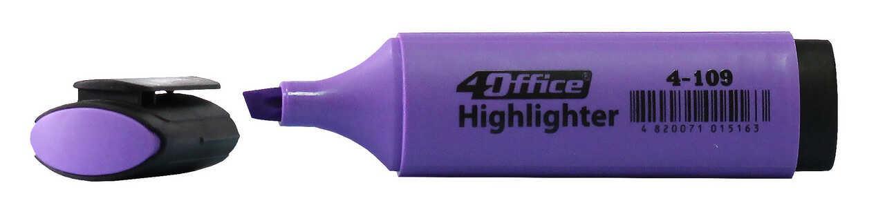 Текстмаркер 1-5мм фиолетовый 4-109 4Office