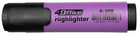 Текстмаркер 1-5мм фиолетовый 4-109 4Office, фото 2