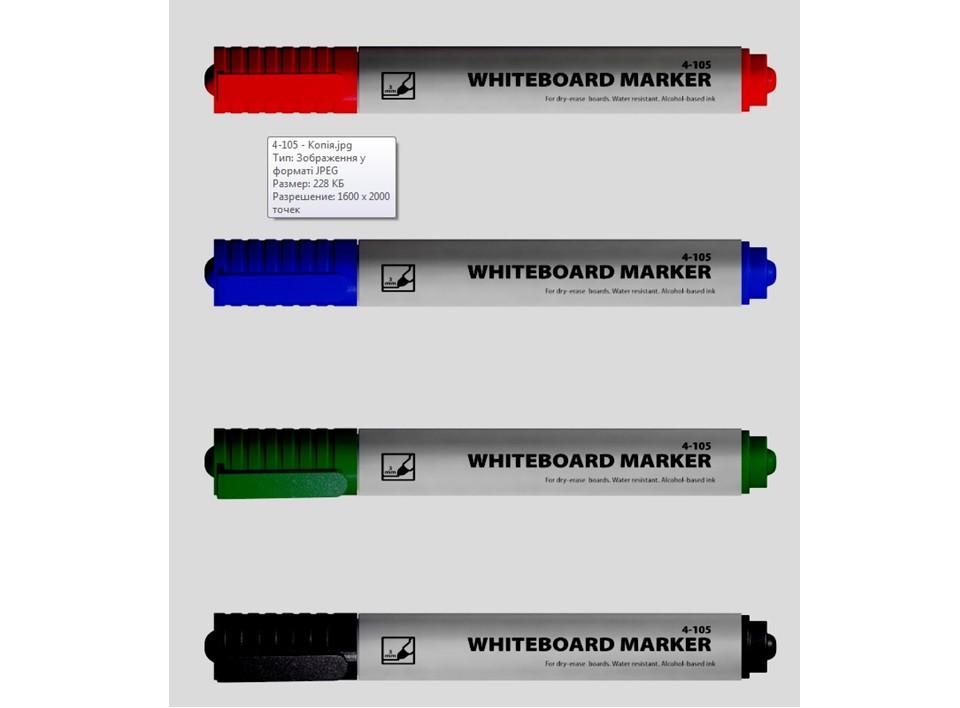Маркер для досок 1-3мм круглый черный 4-105 4Office