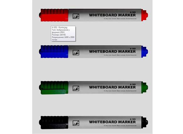 Маркер для досок 1-3мм круглый черный 4-105 4Office, фото 2