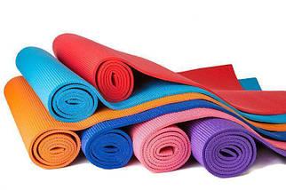 Професійний килимок для йоги, фітнесу та аеробіки 1730×610×4мм, колір червоний, фото 2