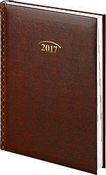 Щоденник 2017 Стандарт Графо бордовий 14,5 х 20,6 см (А5)