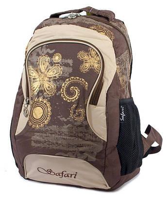 Ранец-рюкзак 2 отд 43*29*17см корич 9455 SAF, фото 2